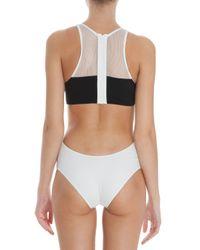 T By Alexander Wang - White Mesh Matt Tricot Swimsuit - Lyst