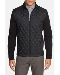 BOSS - Black 'pizzoli' Regular Fit Hybrid Sweatshirt for Men - Lyst