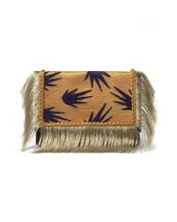 Lizzie Fortunato | Brown Port Of Call Clutch In Tropic Fringe | Lyst