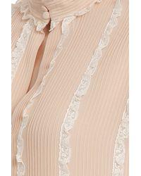 Paul & Joe - Pink Ls Silk Ruffle Blouse - Lyst