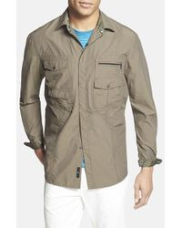 Victorinox | Green 'branson' Tailored Fit Water Repellent Shirt for Men | Lyst