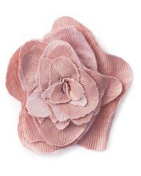Lanvin | Pink Flower Brooch | Lyst