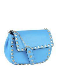 Valentino - Blue Mini Rockstud Cross Body Bag - Lyst