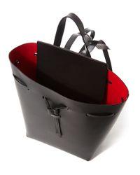 Mansur Gavriel - Black With Flamma Leather Backpack - Lyst