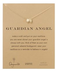 Dogeared | Metallic Guardian Angel Necklace | Lyst