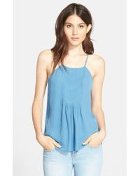 Joie | Blue 'Larisse' Silk Top | Lyst