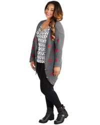 ModCloth | Gray Moseying Meetings Cardigan in Grey Plus Size | Lyst