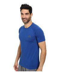 Adidas Originals - Blue Ultimate S/s Crew Tee for Men - Lyst