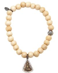 M. Cohen - Metallic Buddha Pendant Bracelet for Men - Lyst