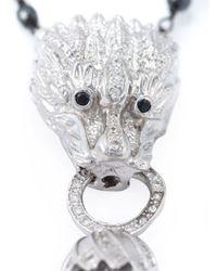 Katerina Psoma - Metallic Beaded Pendant Dragon Tassel Necklace - Lyst