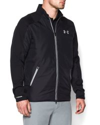 Under Armour | Black Tips Coldgear Casual Full Zip Quilted Jacket for Men | Lyst