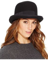 Nine West | Black Felt Kettle Cloche | Lyst
