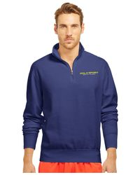 Polo Ralph Lauren - Blue Polo Sport Fleece Half-zip Pullover for Men - Lyst