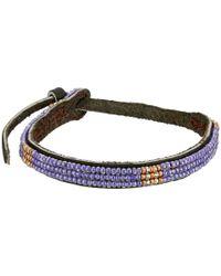 Chan Luu | Purple Adjust Beaded Pattern Single Bracelet | Lyst
