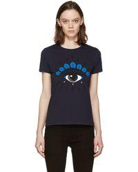 KENZO - Blue Navy Eye Logo T-shirt - Lyst
