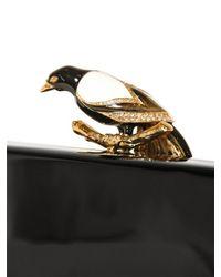 Roberto Cavalli | Black Large Paradise Bird Perspex Clutch | Lyst