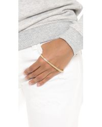 Fallon - Metallic Pave Palm Cuff Bracelet - Lyst