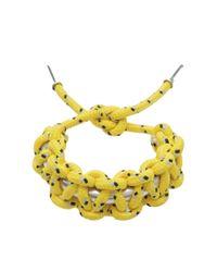 Isabel Marant | Yellow Rope Bracelet | Lyst