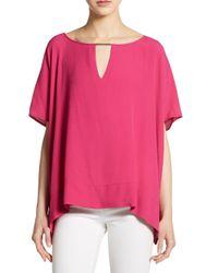 Diane von Furstenberg - Pink Beonica Side-draped Top - Lyst