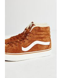 Vans - Brown Sk8-hi Fleece Sneaker - Lyst