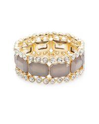 R.j. Graziano - Gray Jeweled Stretch Bracelet - Lyst