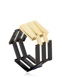 Uncommon Matters | Metallic Structured Cuff Bracelet | Lyst