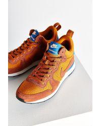 Nike | Orange Internationalist Mid Sneaker | Lyst