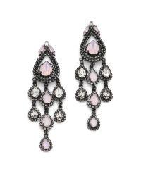 Erickson Beamon | Metallic Lady Fo The Lake Teardrop Earrings - Pink Multi | Lyst