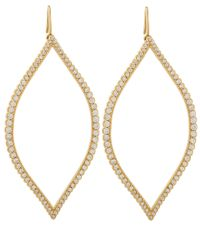 Jamie Wolf | Metallic Gold Diamond Open Marquis Leaf Earrings | Lyst