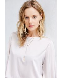Urban Outfitters - Metallic Delicate Web Lariat Necklace - Lyst