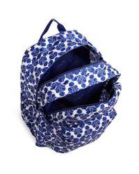 Vera Bradley Blue Lighten Up Grande Backpack