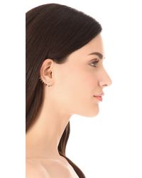 Lady Grey - Metallic Cage Clip On Earrings - Lyst