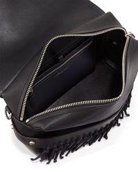 3.1 Phillip Lim - Black Bianca Medium Leather and Suede Cross-Body Bag - Lyst