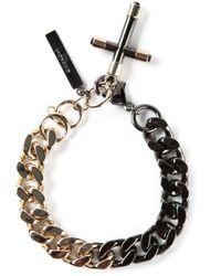 Givenchy - Metallic Cross Bracelet - Lyst