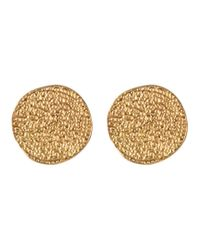 Karen Kane   Metallic Sandy Beach Stud Earrings   Lyst