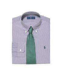 Polo Ralph Lauren | Purple Slim Striped Broadcloth Shirt for Men | Lyst