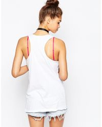 The Ragged Priest | White Ragged Racer Back Vest With Patch Applique | Lyst