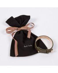Paul Smith - Women'S Olive Green Leather Bracelet - Lyst