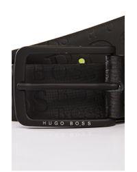 BOSS Green - Black Cowhide Belt 'togai' for Men - Lyst
