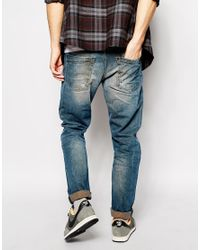 DIESEL - Blue Jeans Dna Krayver Slim Tapered Fit 837h Light Wash Wash for Men - Lyst