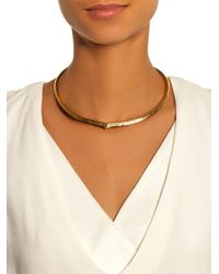 Aurelie Bidermann - Metallic Apache Engraved Gold-Plated Necklace - Lyst