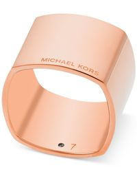 Michael Kors | Pink Rose Gold-tone Band Ring | Lyst