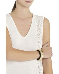 BCBGMAXAZRIA - Metallic Toggle Pyramid Cuff - Lyst