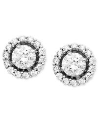 Arabella | White Swarovski Zirconia Round Pave Stud Earrings (2-7/8 Ct. T.w.) | Lyst