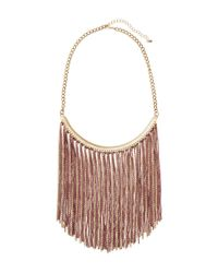 H&M   Metallic Fringed Necklace   Lyst