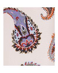 Tory Burch | Pink Stilk Printed Silk Top | Lyst