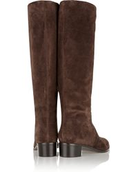 Sergio Rossi - Brown Harley Suede Knee Boots - Lyst