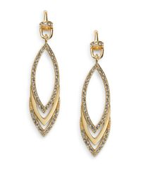 Paige Novick | Metallic Veronica Pavé Triple Marquis Drop Earrings | Lyst