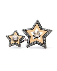 Lanvin - Metallic Altair Double Star Ring - Lyst