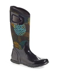 Bogs - Black North Hampton Floral Rain Boots - Lyst